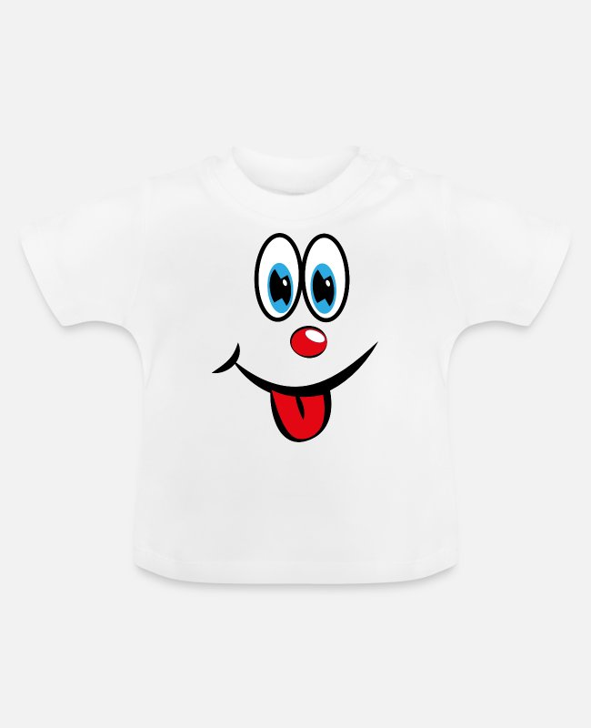 Take Baby T-Shirts - Smiley with tongue - Baby T-Shirt white