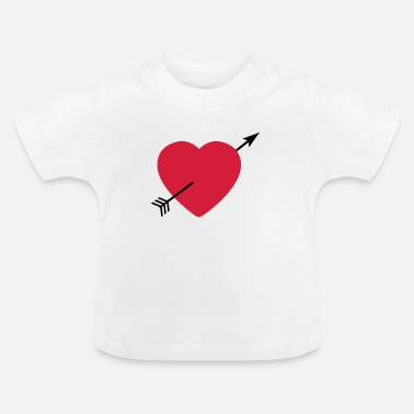 Serce Heart round with arrow - Baby T-shirt