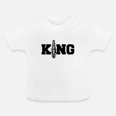 Auto Bougie King - auto motor reparatie-King - Baby T-shirt