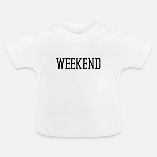 Office Baby Clothes - WEEKEND - Baby T-Shirt white