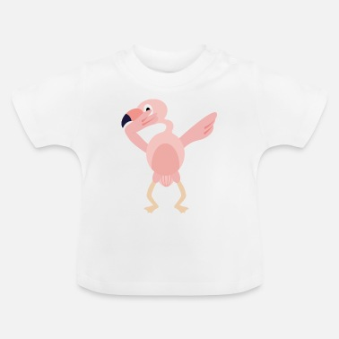 Flamenco Dabbing flamingo baile tímido idea regalo - Camiseta bebé