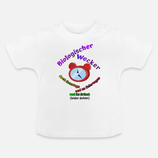 Alarm Clock Baby Clothes - Baby alarm clock - Baby T-Shirt white