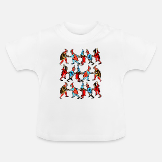 Dancing Baby Clothes - Dancing Celebration - Baby T-Shirt white