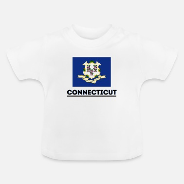 Bundes Staat Flagge Connecticuts - Baby T-Shirt