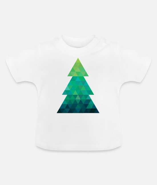 Christmas Baby T-Shirts - Modern style Christmas tree XMAS - Baby T-Shirt white
