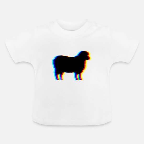 Garden Baby Clothes - sheep meadow animal wool - Baby T-Shirt white