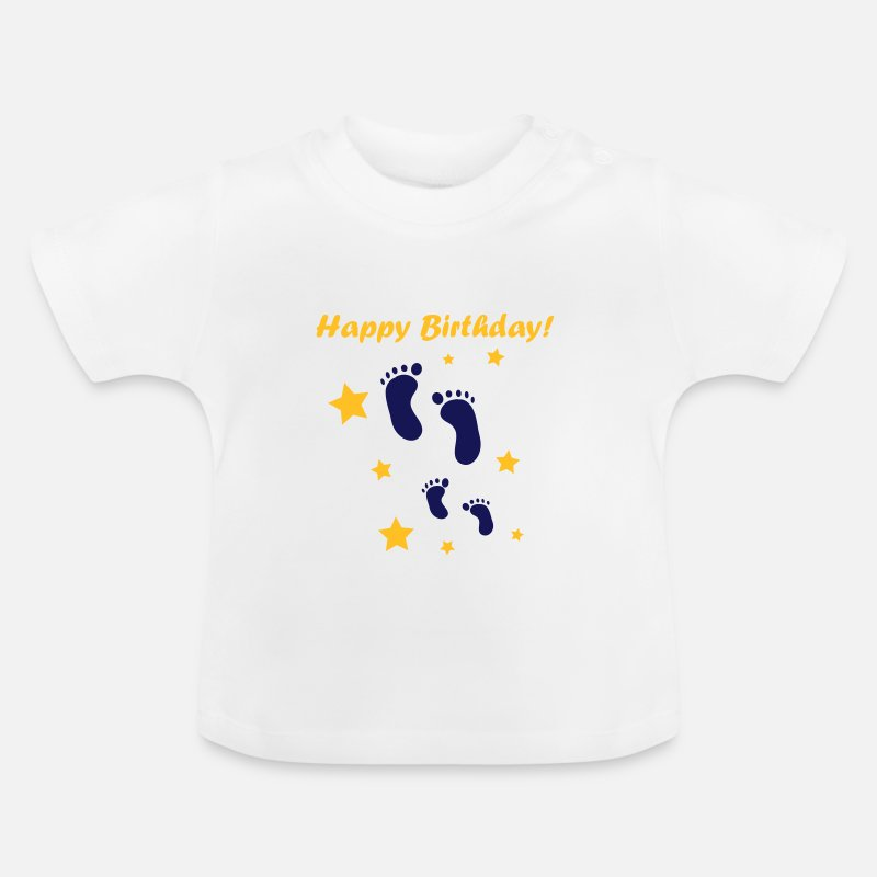 Baby Baby Clothing - Happy Birthday Baby! - Baby T-Shirt white