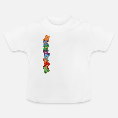 Vertical Line teddy bears vertical - Baby T-Shirt