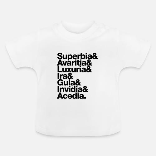 812e01d5a9de8 sieben 7 todsünden - seven deadly sins - latin latein T-shirt Bébé    Spreadshirt