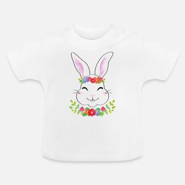 Thumper Bunny with flower wreath - Baby T-Shirt