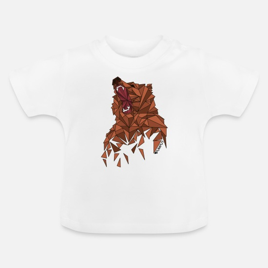 Animal Baby Clothes - BEAR - Baby T-Shirt white