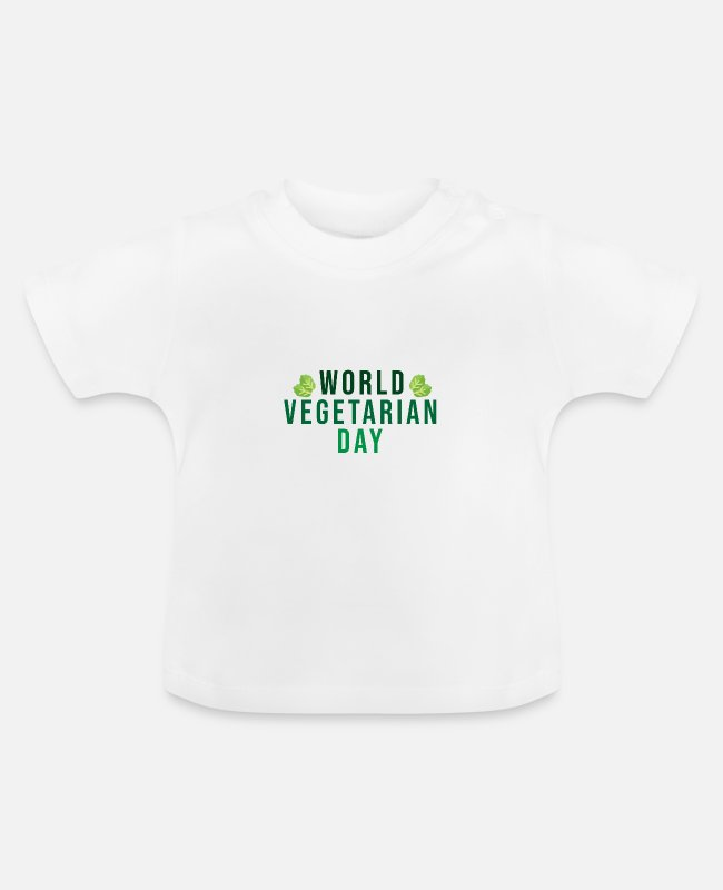 Vegetables Baby T-Shirts - World Vegetarian Day (World Vegetarian Day) Vegan - Baby T-Shirt white