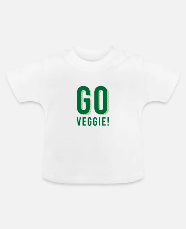 Vegetables Baby T-Shirts - Go Veggie Vegan Vegetarian Vegetarian Vegetables - Baby T-Shirt white