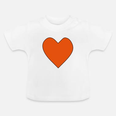 Großes Großes rotes Herz. Heart - Baby T-Shirt