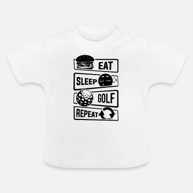 Golfpallo Eat Sleep Golf Repeat - golfpallo golfrata Putteri - Vauvan t-paita