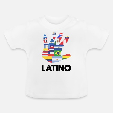 America Latino Latin America Flags Black - Baby T-Shirt