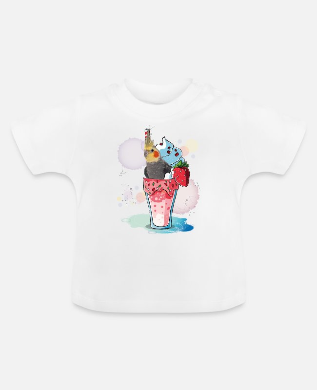ARA Baby T-Shirts - nymph cockatoo - Baby T-Shirt white