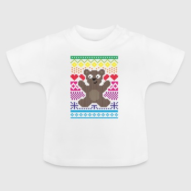 Adult Knitting Design Teddy Baby - Baby T-Shirt