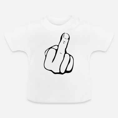 Finger middle finger - Baby T-Shirt
