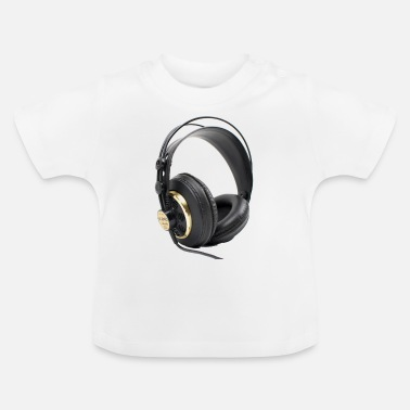 Dj t-shirt with headphone music dj - Baby T-Shirt