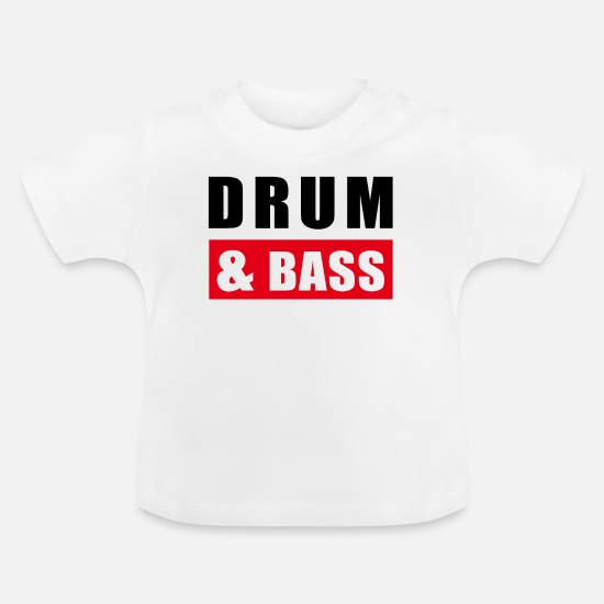 Bass Babykleidung - Drum and Bass / dnb / Drum&Bass - Baby T-Shirt Weiß