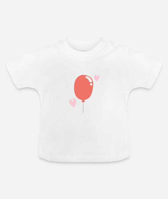 Birthday Baby Clothes - balloon - Baby T-Shirt white
