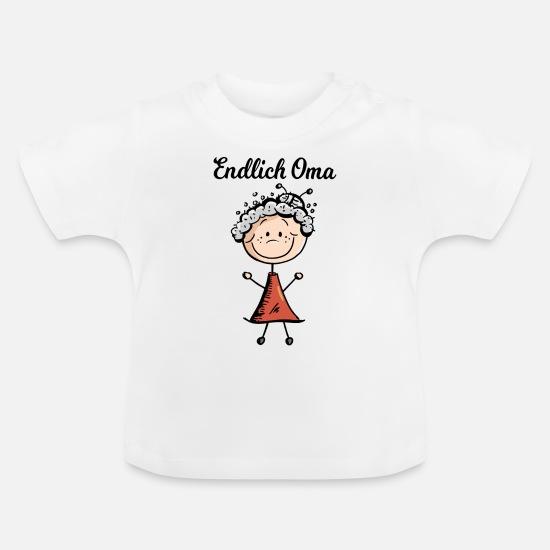 Stolze Oma 1 Kind Damen T-Shirt Enkel Geburtstag Geburt Geschenk Idee Fun Shirt