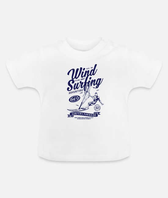 Windhund Baby T-Shirts - Wind Surfing - Baby T-Shirt Weiß