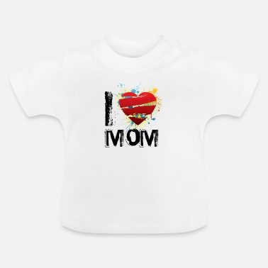 I Love I love mom uk - Baby T-Shirt