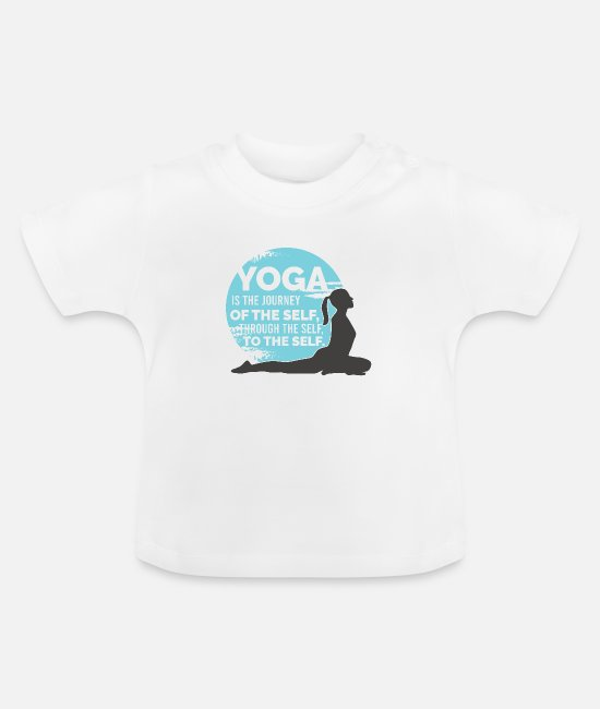 Méditation T-shirts Bébé - YOGA Le voyage du SELF à travers le SELF au ME - T-shirt Bébé blanc