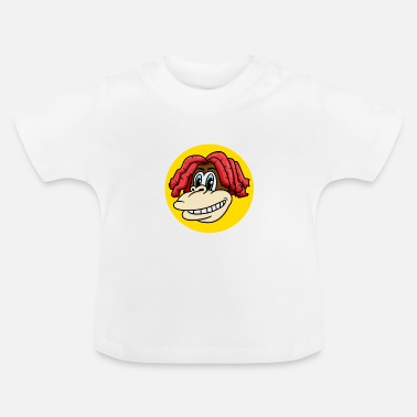 Charade Monkey face with cool hair for monkey fans - Baby T-Shirt