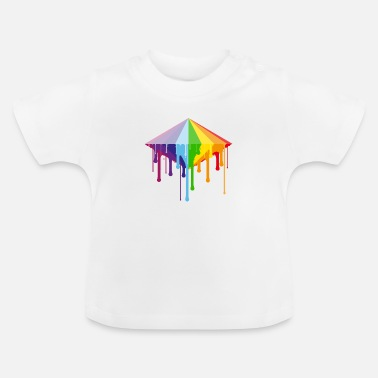 Smeltende Rainbow Diamond - Baby T-shirt