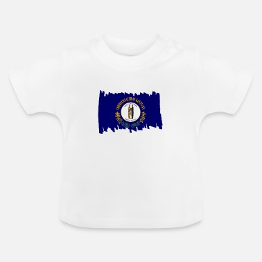 Everyday Life Kentucky USA - Flag - brush vertical - Baby T-Shirt