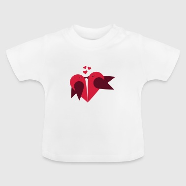 Vogeltje Loving heart, Valentin day - Baby T-shirt