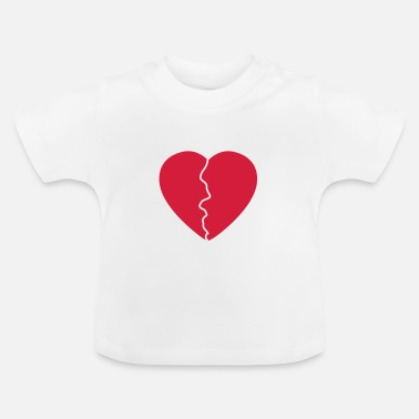 Serce Love hurts / broken heart - T-shirt Bébé