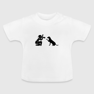 Pictogramme Journaliste photographe Hund - T-shirt Bébé