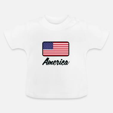 Amerikan Lippu Kansallisen lipun Amerikan - Vauvan t-paita bef914eb87