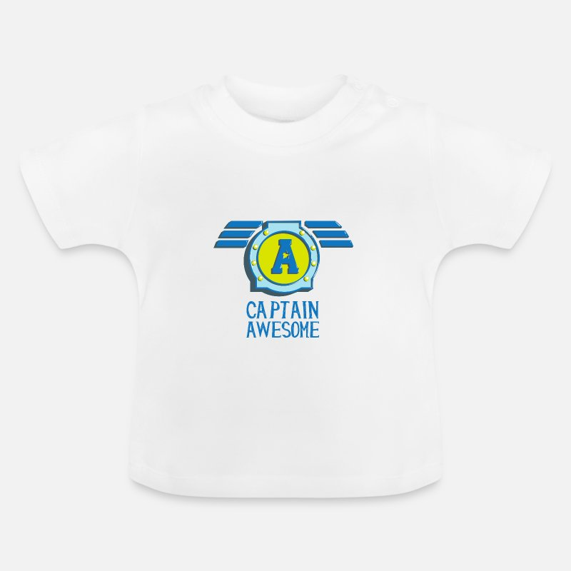 Ego Baby Clothing - Captain awesome Captain geil self-consciously arrogant - Baby T-Shirt white