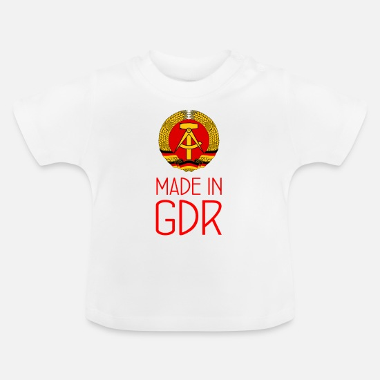 Hammer Baby Clothes - Made in GDR - GDR - German Democratic Rep. - Baby T-Shirt white