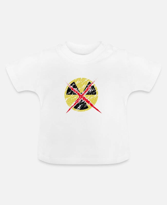 Repository Baby T-Shirts - Anti Nuclear Power Icon Sign Against Atomic Energy - Baby T-Shirt white