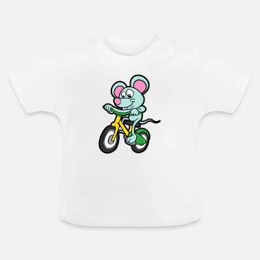 Grappige Grappige leuke coole muisfiets - Baby T-shirt