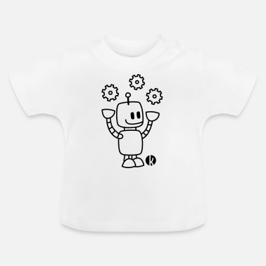 Happy Juggling Robot - Baby T-Shirt