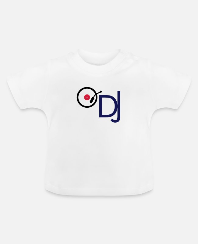 Turn Table Baby T-Shirts - DJ with turntable - Baby T-Shirt white