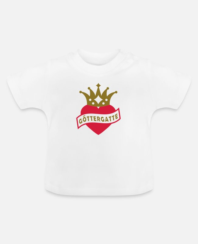 Heart Baby T-Shirts - With Heart & Crown - - Baby T-Shirt white