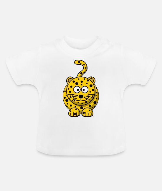 Dier Baby shirts - Leopard Cartoon - Baby T-shirt wit