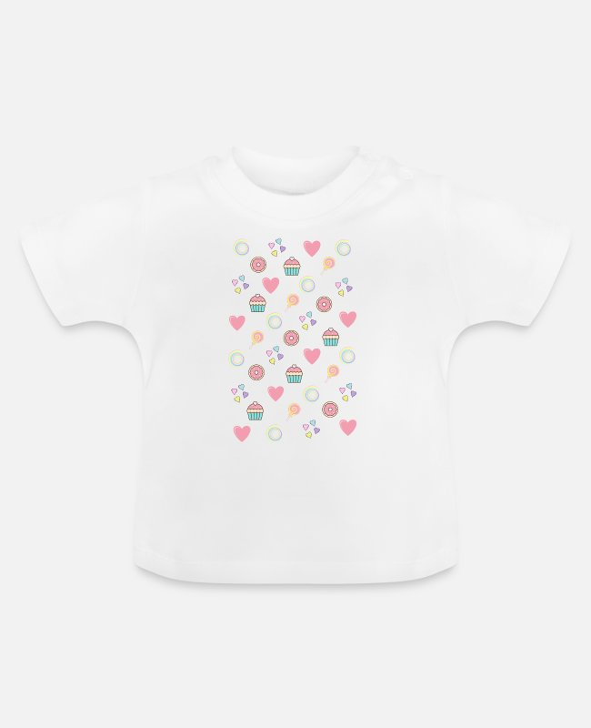Gift Baby shirts - roze snoep - Baby T-shirt wit