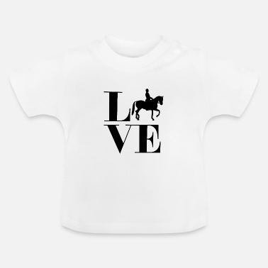 Love riding horses Spinging riding Westernrijden - Baby T-shirt