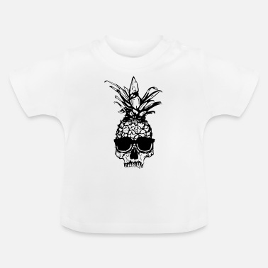 Ananas schedel - Baby T-shirt