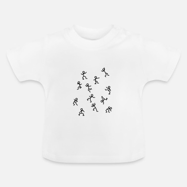 Hip Dancing stick figure, a wild dance - Baby T-Shirt
