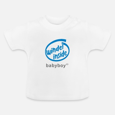 Windel Baby Boy Windel inside (blue) - Baby T-Shirt
